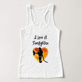 Ame a un bombero camiseta con tirantes