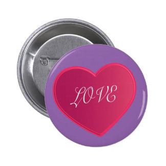 Ame el botón rosado de los niños del color del