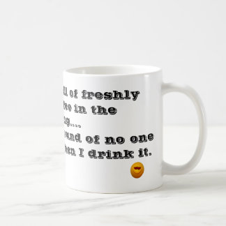 Ame el olor del café por la mañana taza de café