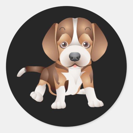 Ame el pegatina/el sello del negro del perro de