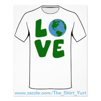 Ame el planeta de la madre tierra folleto 11,4 x 14,2 cm