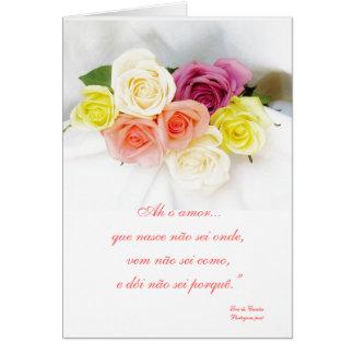 Ame el poema del poeta portugués - Luis de Camões Tarjeta