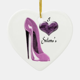 Ame el zapato del estilete de la mora y 3D el Adorno De Cerámica En Forma De Corazón
