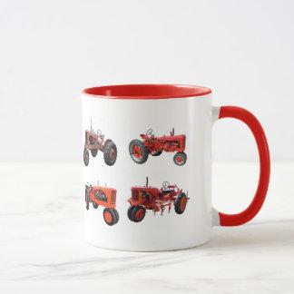 Ame esos tractores rojos viejos taza