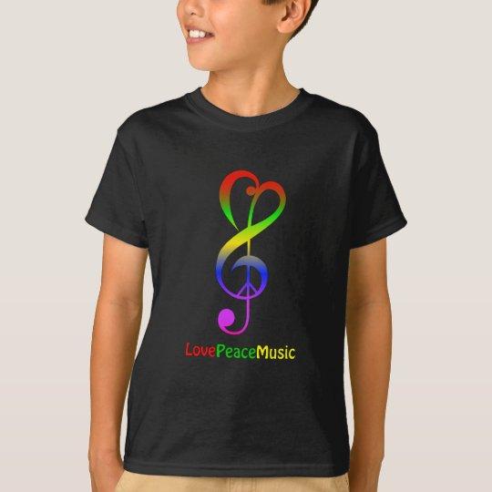 Ame la camisa de los niños del clef agudo del