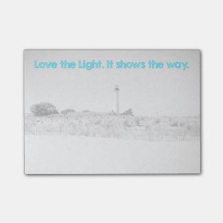 Ame la luz notas post-it®