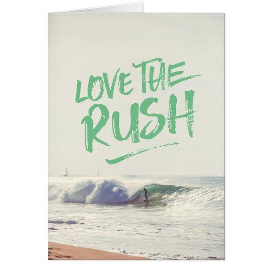 Ame la plantilla seca de la foto de la tipografía tarjeta de felicitación
