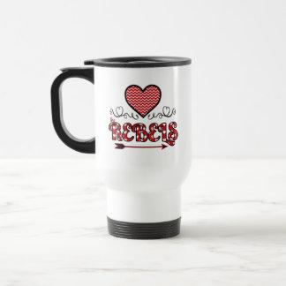 Ame la taza personalizada los rebeldes
