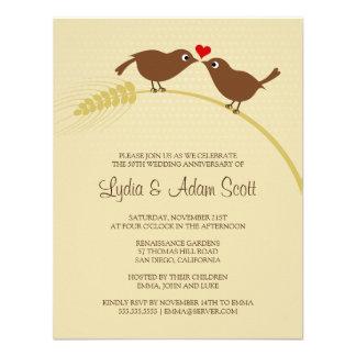 Ame los pájaros 4 25 x 5 5 aniversario de boda