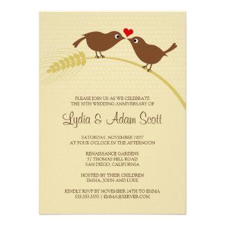 Ame los pájaros 4 5 x 6 25 aniversario de boda
