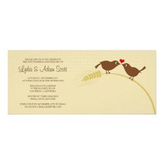 Ame los pájaros 4 x 9 25 aniversario de boda