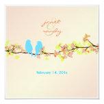 Ame los pájaros/los flores coloridos/el fondo invitacion personal
