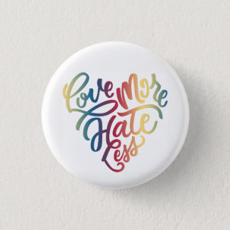 Ame más, odie menos botón