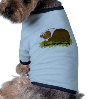 Ame mi conejillo de Indias Camiseta Con Mangas Para Perro