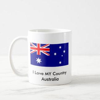 Ame MI jGibney de la bandera de Australia del país