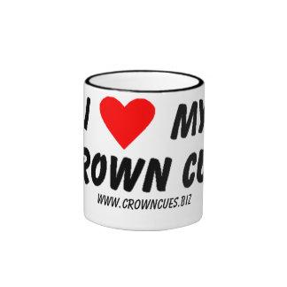 Ame mi taza de la señal de la corona