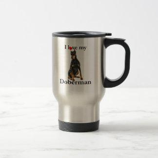 Ame mi taza del viaje del Doberman