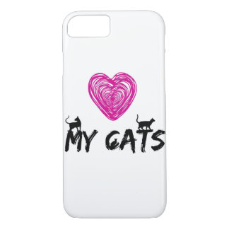 ¡AME MIS GATOS! FUNDA iPhone 7