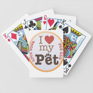 Ame su día del mascota - día del aprecio baraja de cartas bicycle