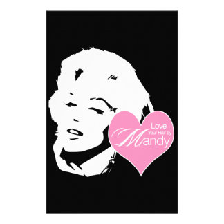 Ame su pelo al lado del salón de pelo de Mandy el Papelería De Diseño