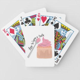 Ame tener un gusto barajas de cartas