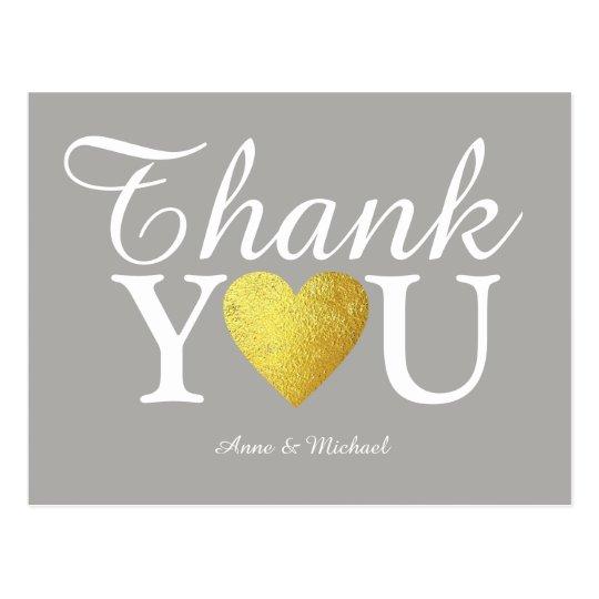 ame y gracias boda postal