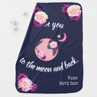 Ámele a la luna y a la manta trasera del bebé