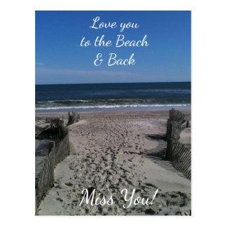 Ámele a la playa y a la postal trasera