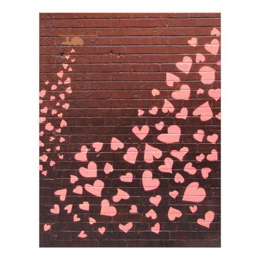 Ámele arte de la calle de la pintada tarjeton