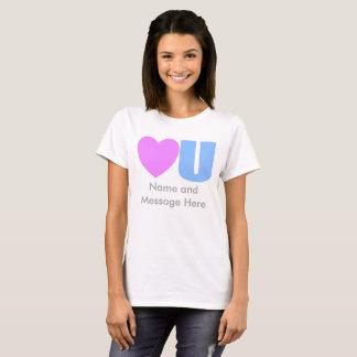 Camiseta Ámele camiseta del mensaje para ella