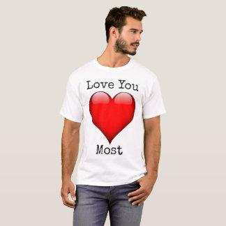 Ámele la camiseta de la tarjeta del día de San