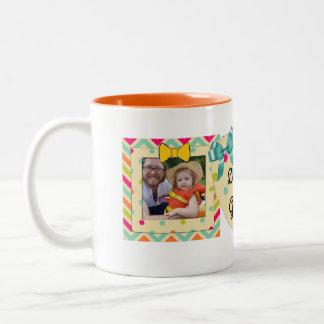 """Taza Bicolor """"Ámele naranja, trullo y amarillo de la taza de la"""