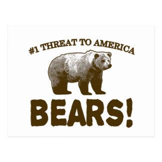 Amenaza #1 para América: ¡Osos! Postal