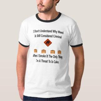 Amenaza de la torta camisetas
