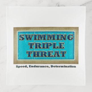 Amenaza SUPERIOR del triple de la nadada