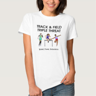 Amenaza SUPERIOR del triple de la pista Camisetas
