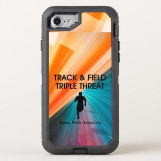 Amenaza SUPERIOR del triple de la pista Funda OtterBox Defender Para iPhone 8/7