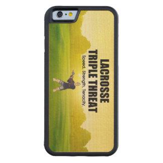 Amenaza triple SUPERIOR de LaCrosse Funda Protectora De Arce Para iPhone 6 De Carved