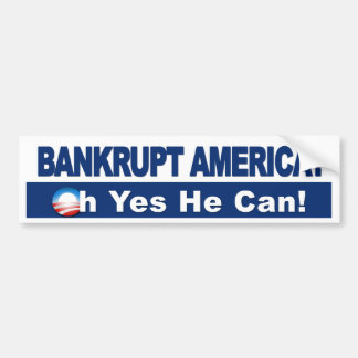 ¿América arruinada? ¡Oh él puede sí! Economía de O Pegatina Para Coche