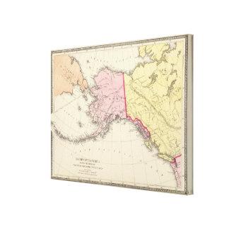 América del noroeste impresiones en lona estiradas