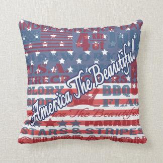 América Día de la Independencia el 4 de julio Cojín Decorativo