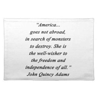 América en el extranjero - Juan Q Adams Salvamanteles