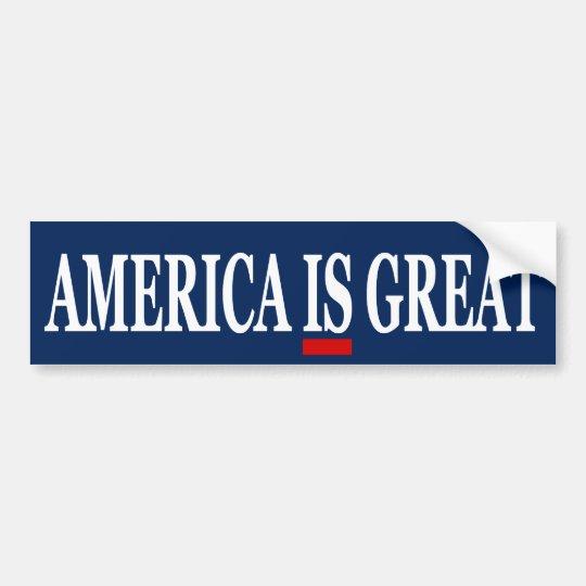 América ES gran pegatina para el parachoques anti