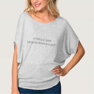 América es grande porque América es buena - Flowy Camiseta
