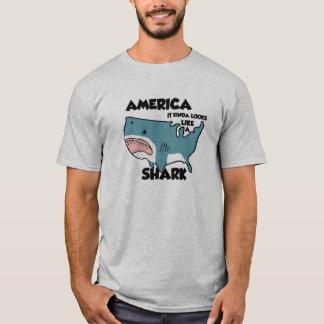 América es una camiseta del tiburón, gris