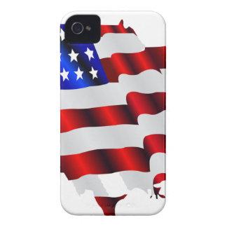 América fresca US USA bandera TRISTE juegos de iPhone 4 Case-Mate Carcasa