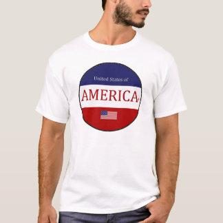 América oval colorea la camiseta moderna del