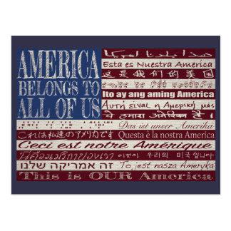 América pertenece todos nosotros postal