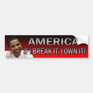 ¡América si la rompo, I la posee! (Rojo, rojo, roj Pegatina Para Coche