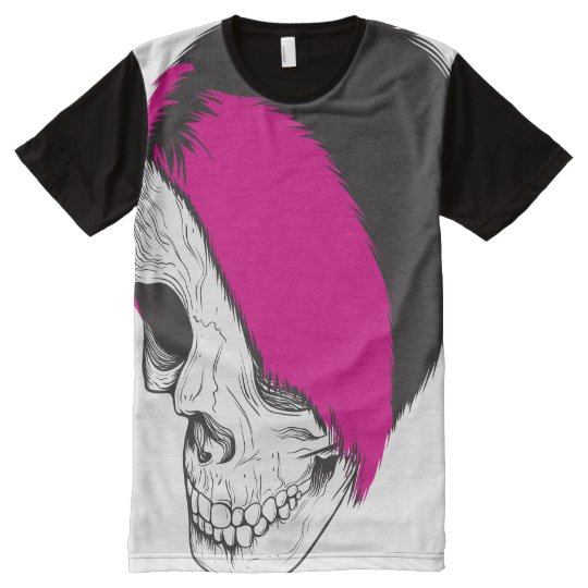 American Apparel unisex: Cráneo punky Camiseta Con Estampado Integral